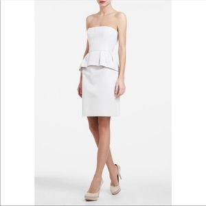 NEW SEXY STRAPLESS BCBG PEPLUM DRESS